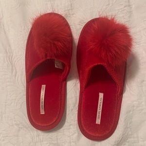 Victoria secret red slippers